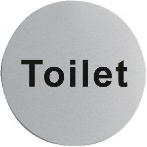 Stainless Steel Door Sign - Toilet