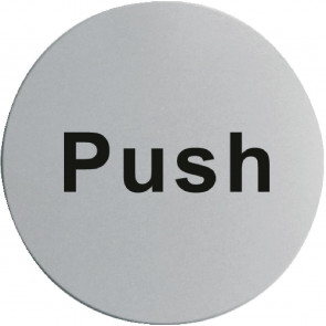 Stainless Steel Door Sign - Push