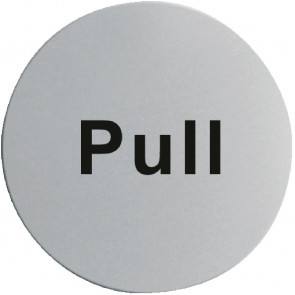 Stainless Steel Door Sign - Pull