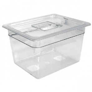 Vogue Polycarbonate 1/4 Gastronorm Container 100mm Clear
