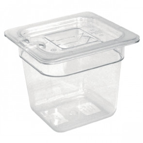 Vogue Polycarbonate 1/6 Gastronorm Container 150mm Clear