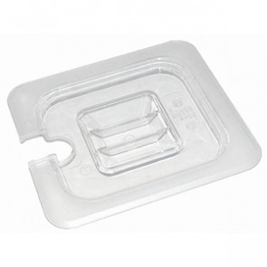 Vogue Polycarbonate 1/4 Gastronorm Lid Notched