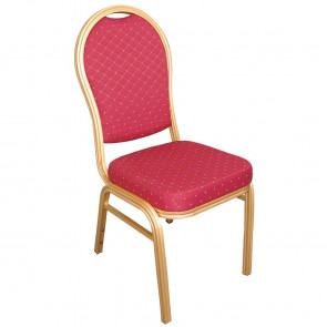 Bolero Aluminium Arched Back Banquet Chairs Red (Pack of 4)