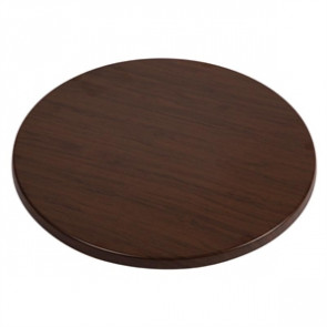 Werzalit Round Table Top Italian Walnut Effect 600mm