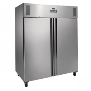 Polar Heavy Duty Double Door Freezer Stainless Steel 1300Ltr