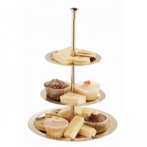 Stainless Steel 3 Tier Afternoon Tea Stand 280mm