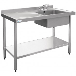 Vogue Stainless Steel Sink Right Hand Bowl 1000x600mm