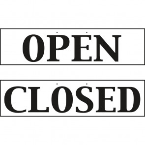 Open And Closed Sign - Reversible
