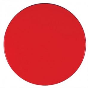 Werzalit Round Table Top Dark Red 600mm