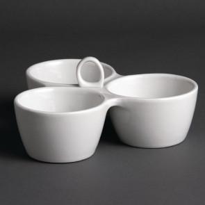 Olympia Relish Dish 3 Pot 180mm
