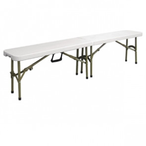 Bolero Centre Folding Bench White 6ft