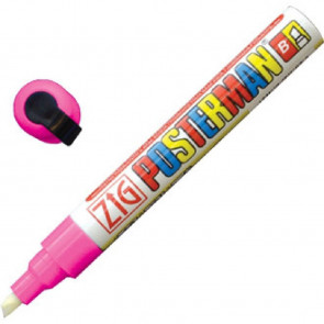 Zig Posterman Chalk Marker Pink Tip 6mm
