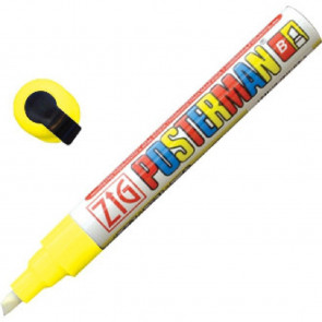 Zig Posterman Chalk Marker Yellow Tip 6mm